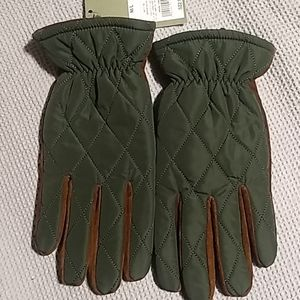 Quilted & Leather Gloves